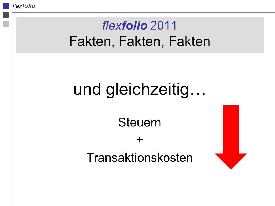 flexfolio flexfolio 2011 Fakten, Fakten, Fakten und gleichzeitig… Steuern + Transaktionskosten