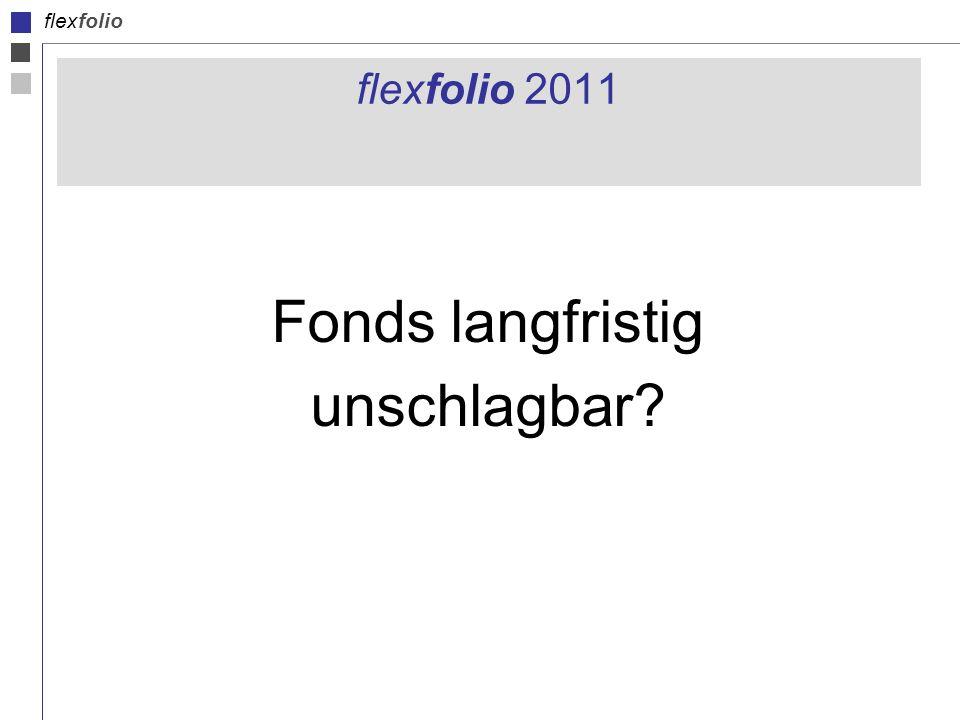 flexfolio flexfolio 2011 Fonds langfristig unschlagbar