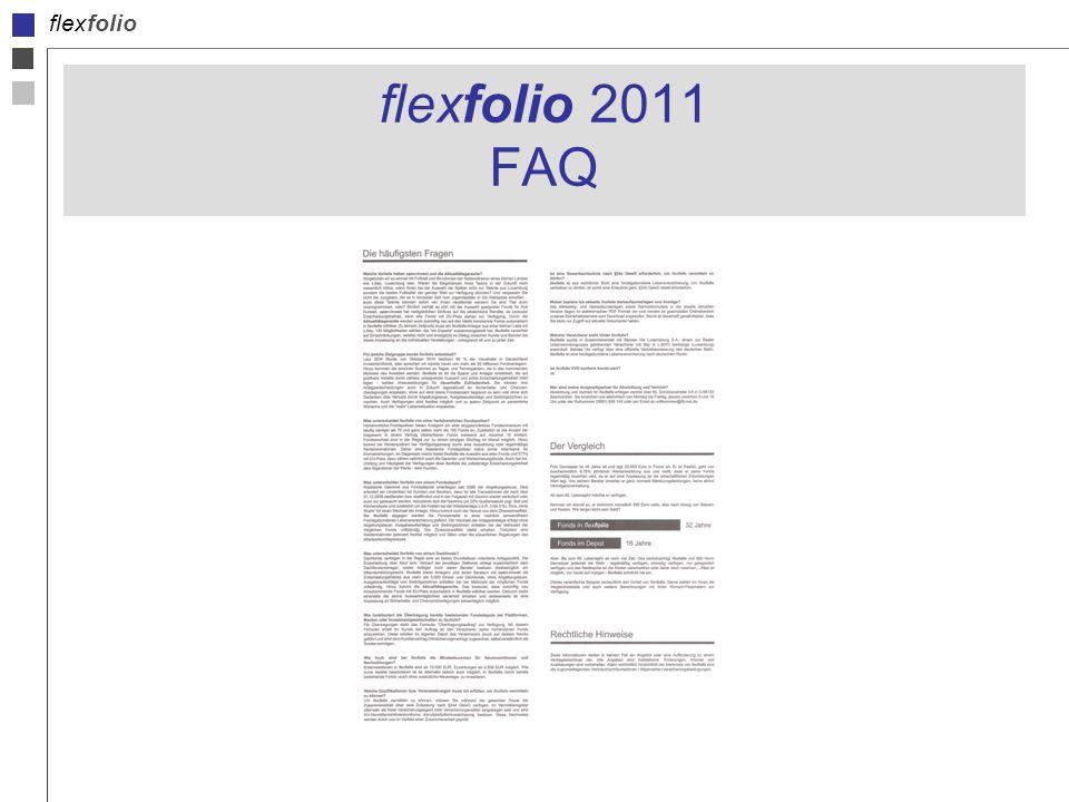 flexfolio flexfolio 2011 FAQ