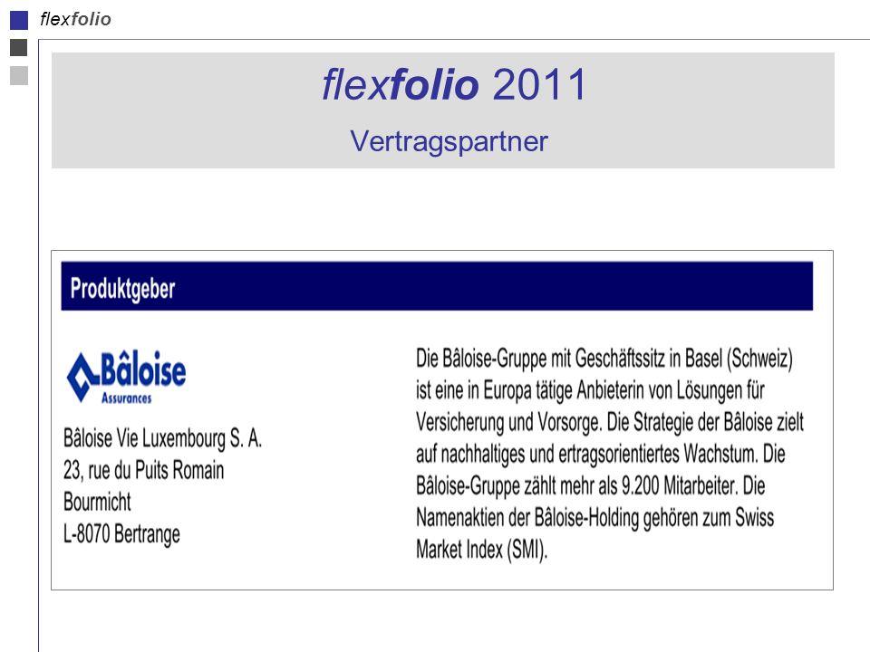 flexfolio 2011 Vertragspartner