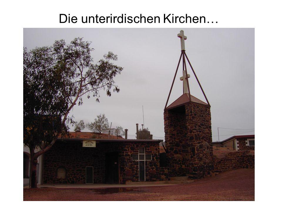 Die unterirdischen Kirchen…