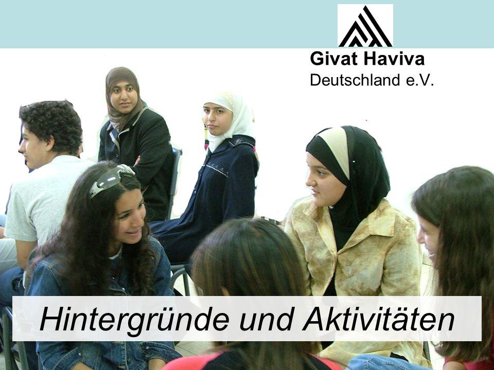Givat Haviva Deutschland e.V. Hintergründe und Aktivitäten Givat Haviva Deutschland e.V.
