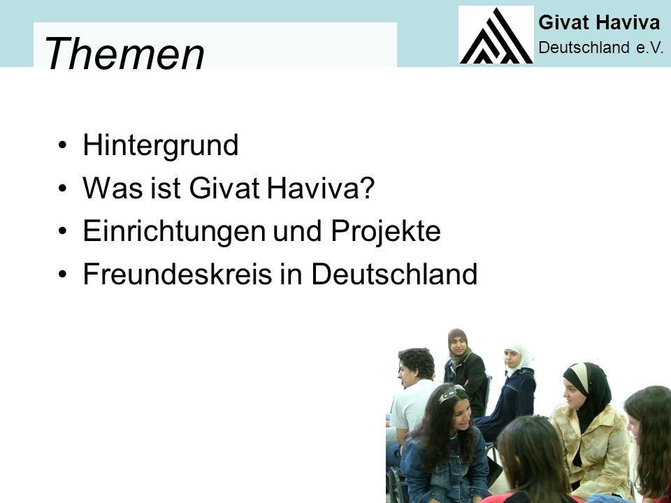Givat Haviva Deutschland e.V.Hintergrund Was ist Givat Haviva.