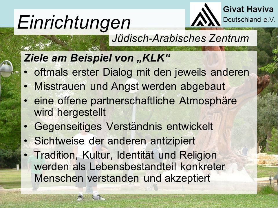 Givat Haviva Deutschland e.V.weitere Projekte des Jüd.-Arab.