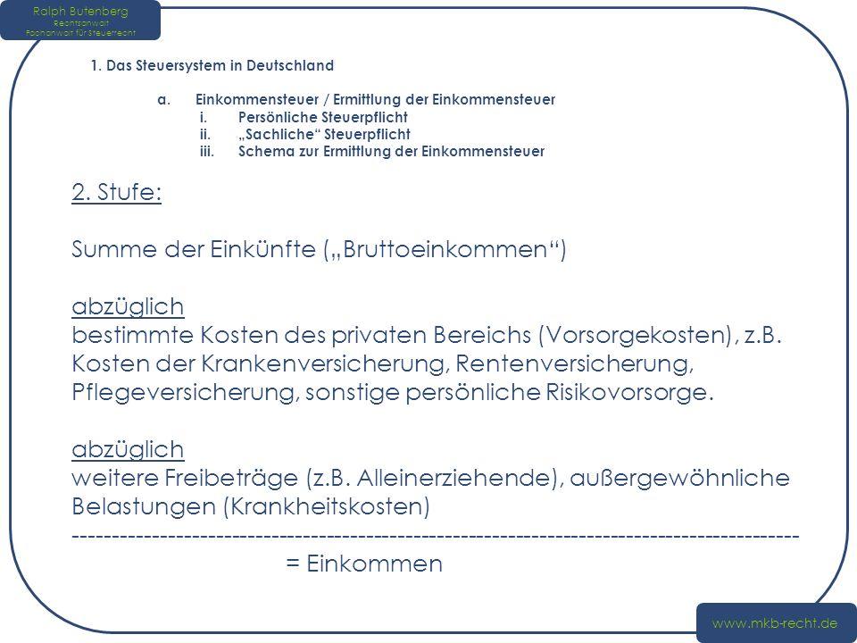 Ralph Butenberg Rechtsanwalt Fachanwalt für Steuerrecht www.mkb-recht.de 2.