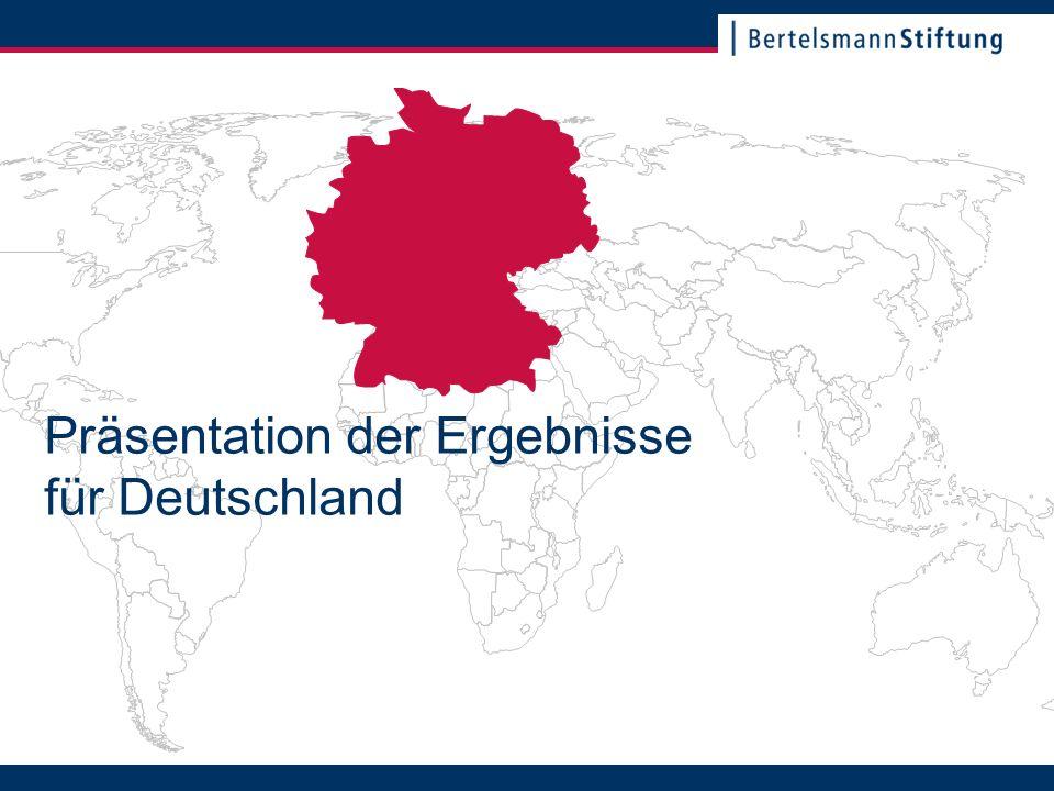 22. November 2007Seite 2 Präsentation der Ergebnisse für Deutschland