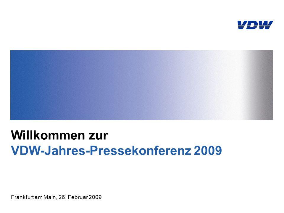 VDW-Jahres-Pressekonferenz | Seite 12 | 26.02.2009 Welt-Verbrauch Werkzeugmaschinen Deutschland zweitgrößter Markt Welt-Produktion = Welt-Verbrauch 2008: 54,5 Mrd.