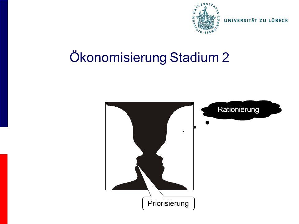Ökonomisierung Stadium 2 Priorisierung Rationierung