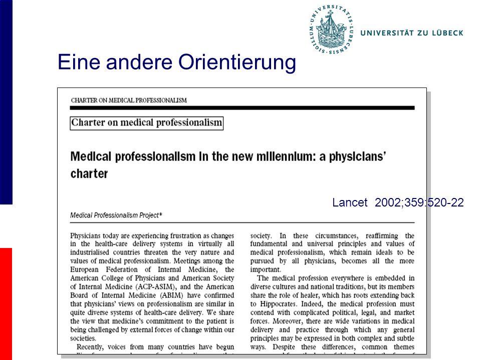 Eine andere Orientierung Lancet 2002;359:520-22
