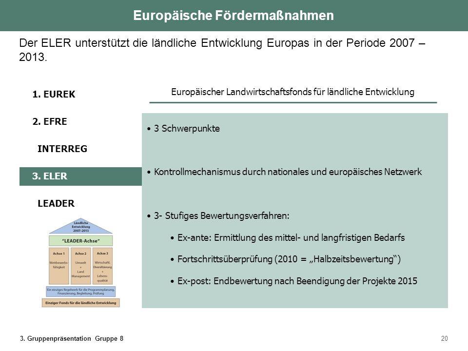 3. Gruppenpräsentation Gruppe 820 3 Schwerpunkte Kontrollmechanismus durch nationales und europäisches Netzwerk 3- Stufiges Bewertungsverfahren: Ex-an