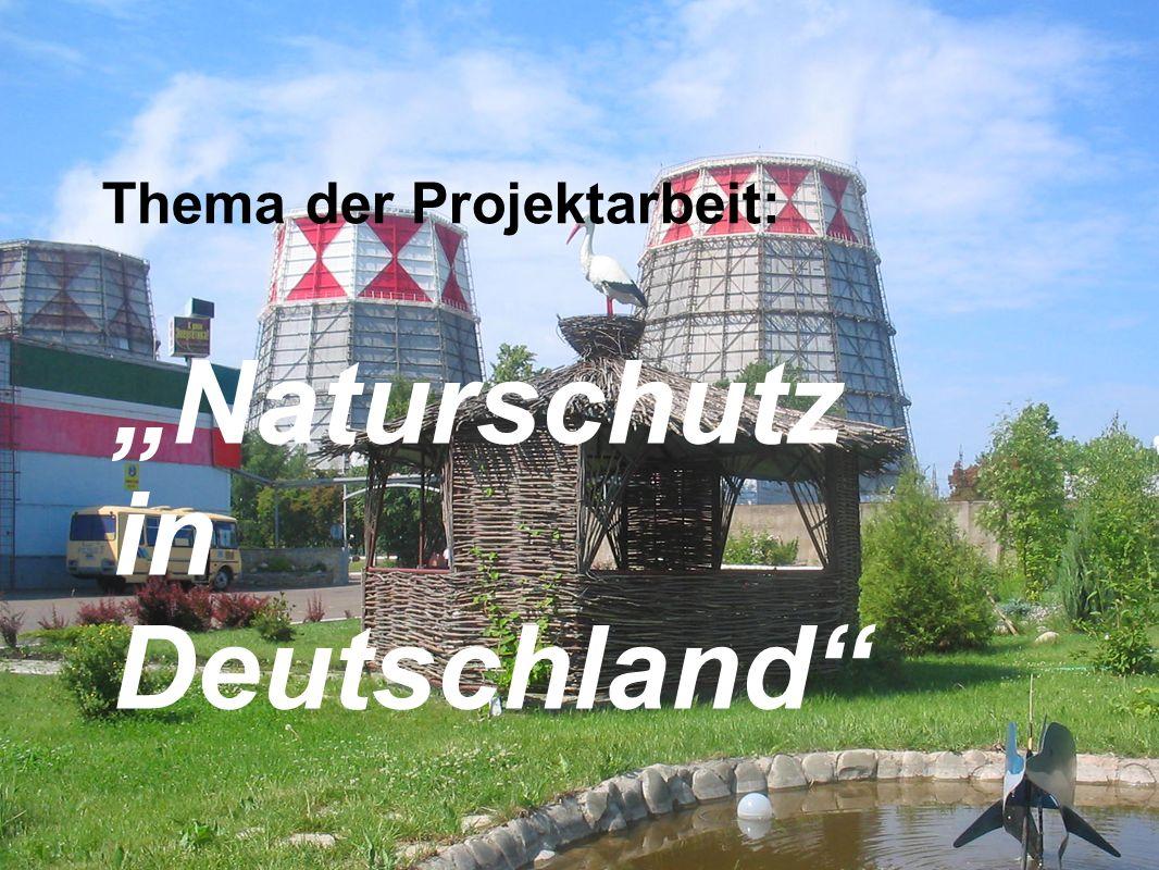 Thema der Projektarbeit: Naturschutz in Deutschland