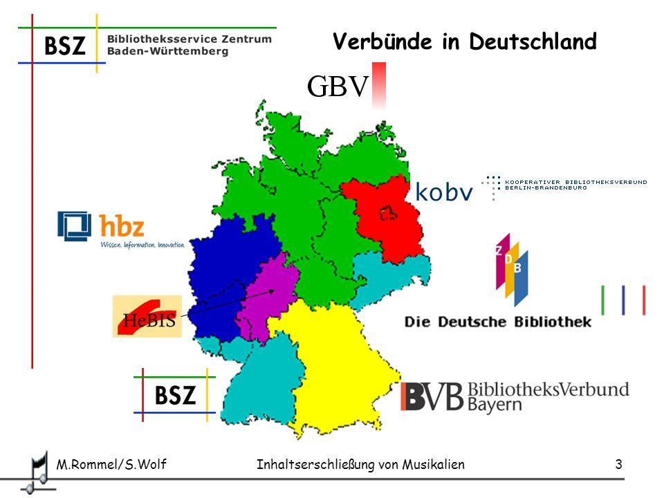 M.Rommel/S.Wolf Inhaltserschließung von Musikalien14 IDS Basel-Bern: Beispiel