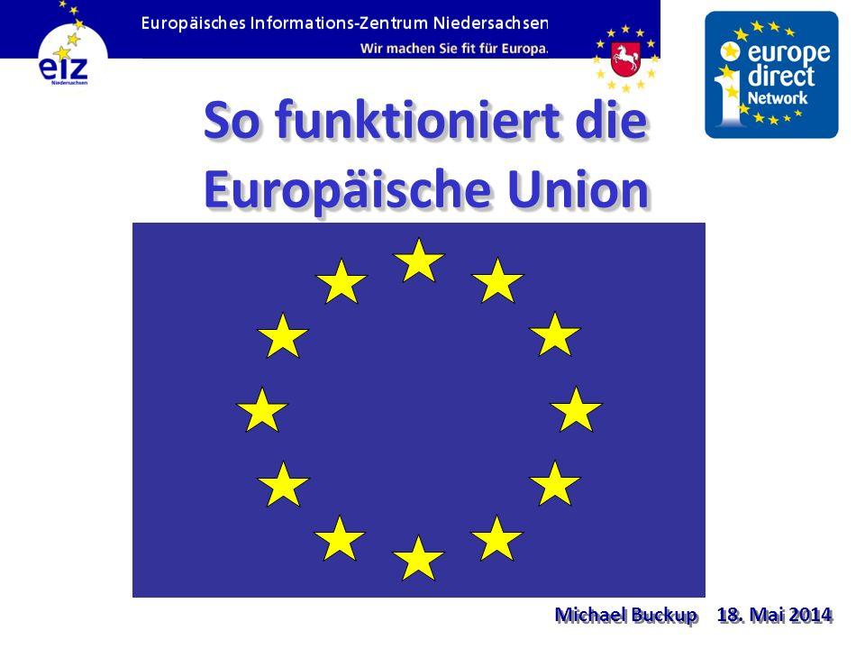 So funktioniert die Europäische Union Michael Buckup 18. Mai 2014