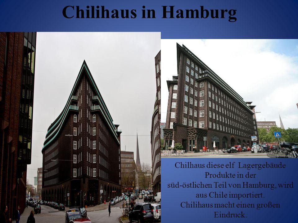 Chilihaus in Hamburg Chilhaus diese elf Lagergebäude Produkte in der süd-östlichen Teil von Hamburg, wird aus Chile importiert. Chilihaus macht einen