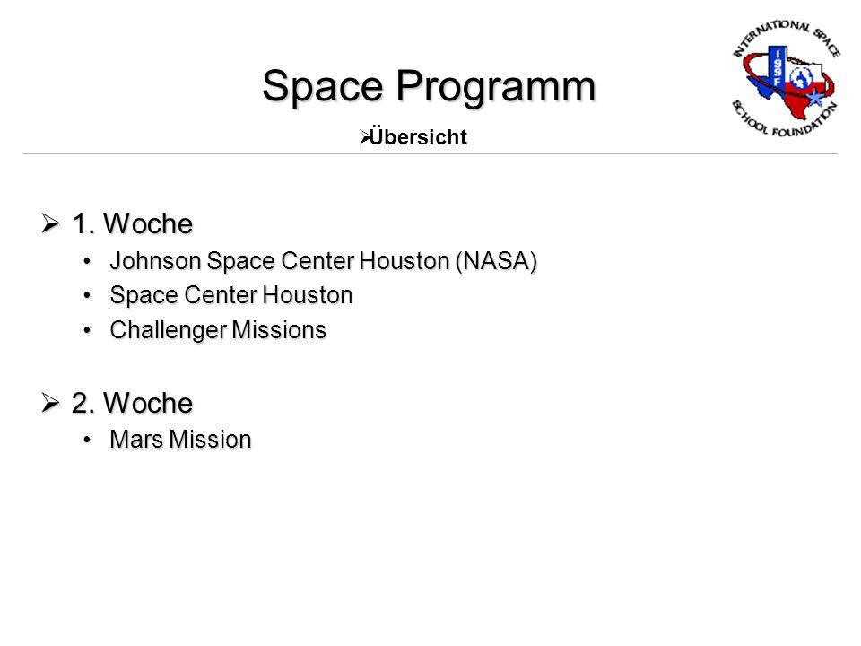 Space Programm 1. Woche 1.