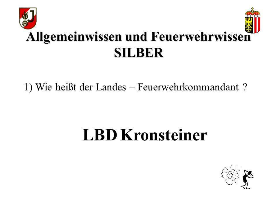 Allgemeinwissen und Feuerwehrwissen SILBER OÖ Feuerwehrgesetz 1997 11)In welchem Gesetz sind die Pflichten und Rechte der Feuerwehr verankert ?