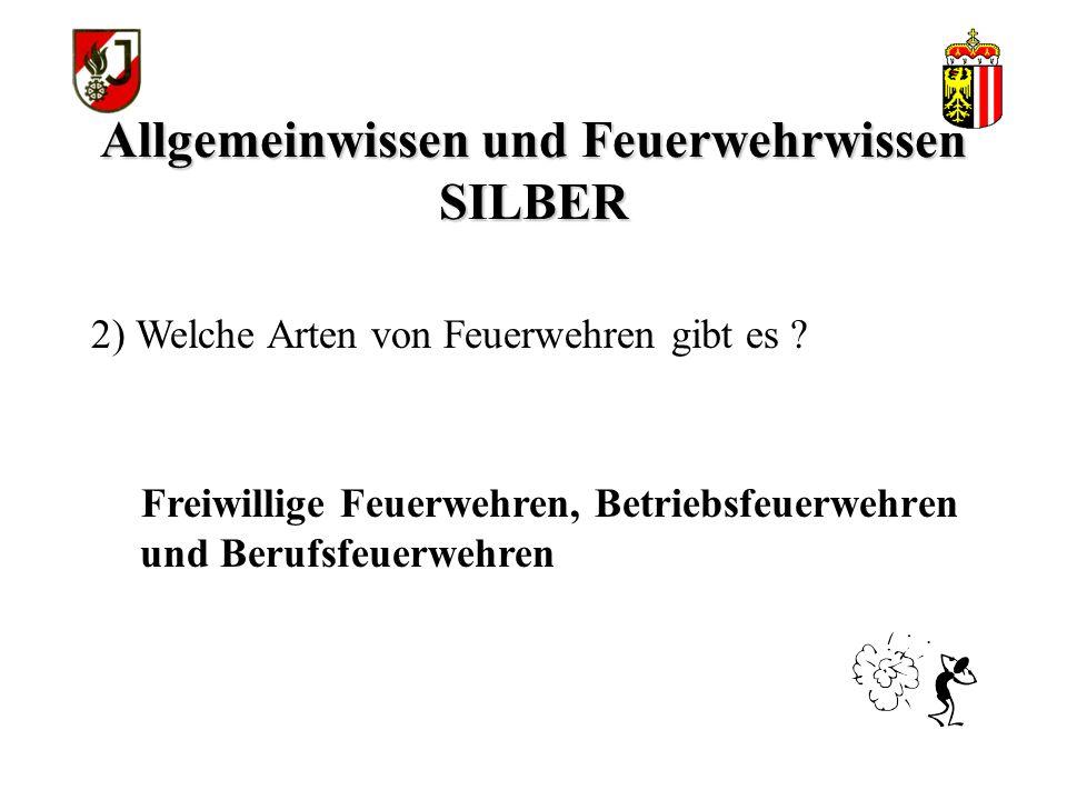 Allgemeinwissen und Feuerwehrwissen SILBER Dr.