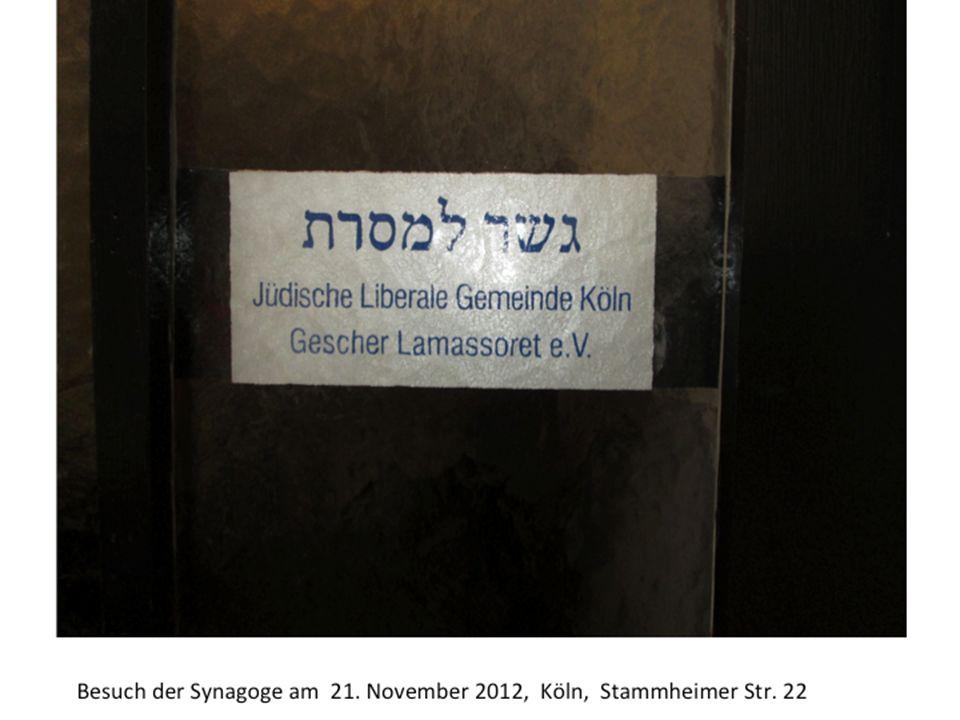 Besuch der Synagoge am 21. November 2012, Köln, Stammheimer Str. 22