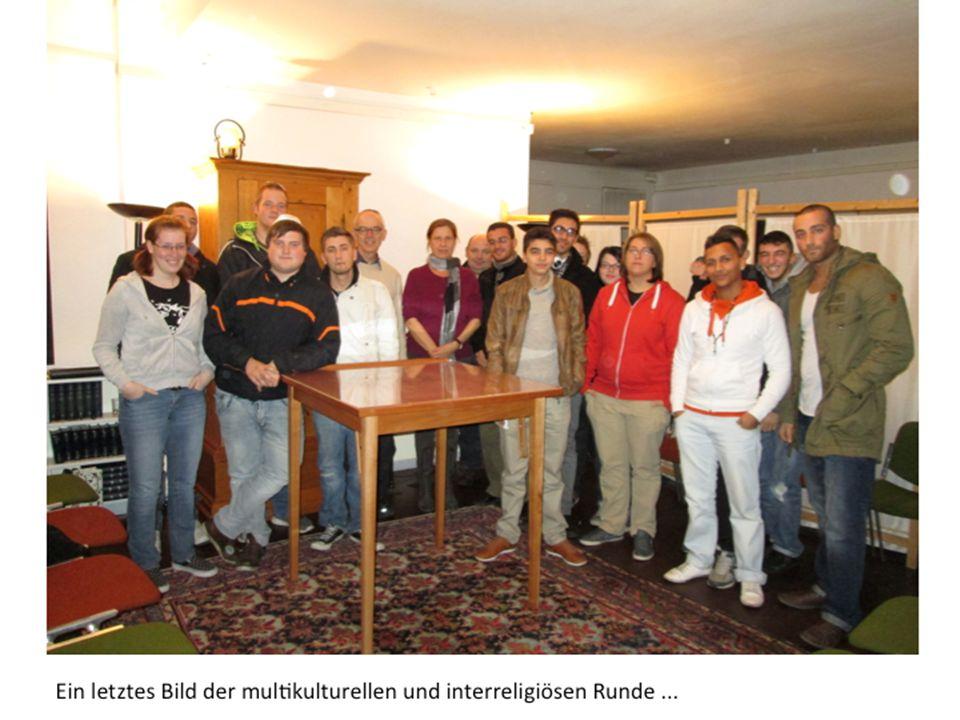 Ein letztes Bild der multikulturellen und interreligiösen Runde...