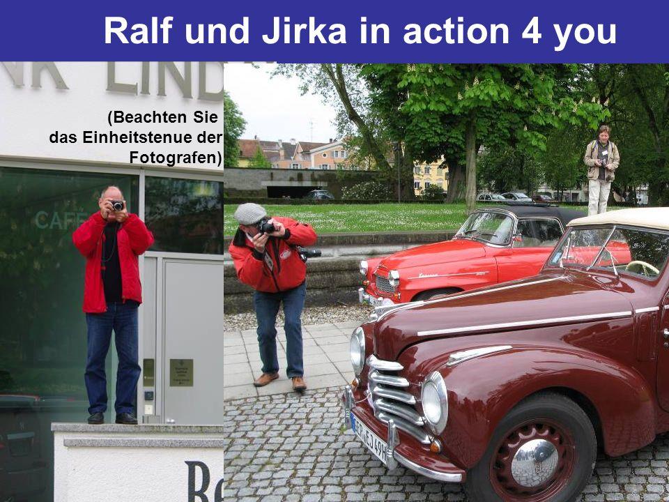 Ralf und Jirka in action 4 you (Beachten Sie das Einheitstenue der Fotografen)