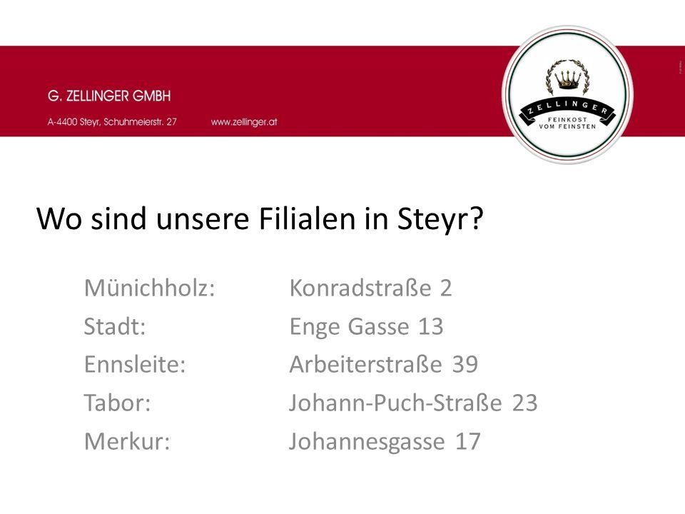 Wo sind unsere Filialen in Wels und Linz.