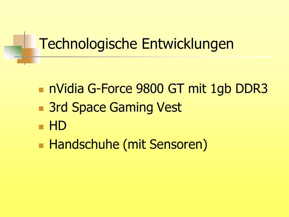 Technologische Entwicklungen nVidia G-Force 9800 GT mit 1gb DDR3 3rd Space Gaming Vest HD Handschuhe (mit Sensoren)