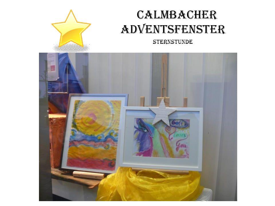 Calmbacher Adventsfenster Sternstunde