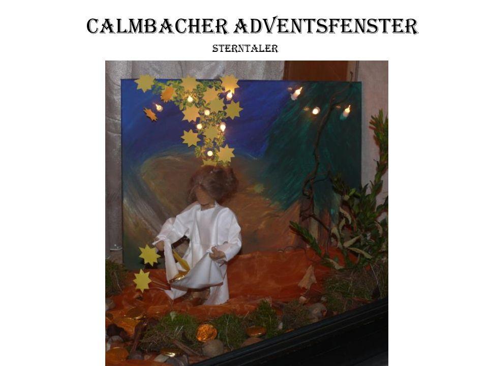 Calmbacher Adventsfenster Sterntaler