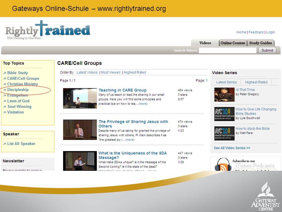 Gateways Online-Schule – www.rightlytrained.org