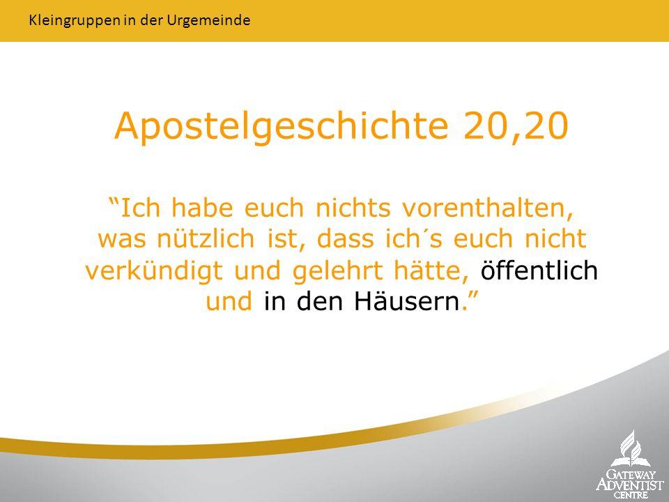 Apostelgeschichte 20,20 Ich habe euch nichts vorenthalten, was nützlich ist, dass ich´s euch nicht verkündigt und gelehrt hätte, öffentlich und in den