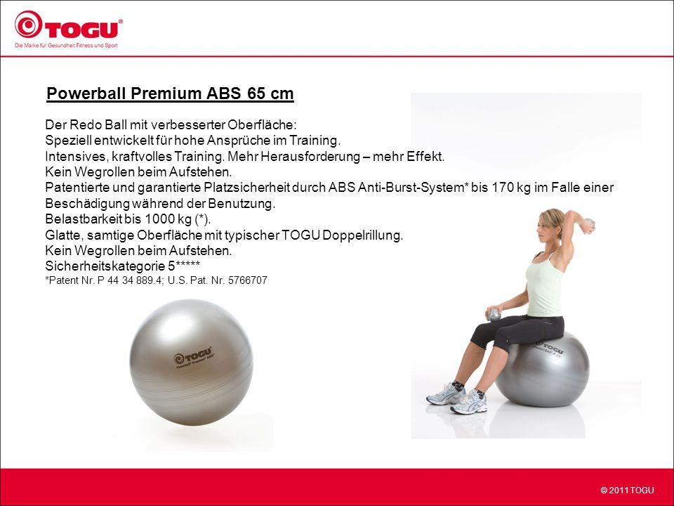 © 2011 TOGU Powerball Premium ABS 65 cm Der Redo Ball mit verbesserter Oberfläche: Speziell entwickelt für hohe Ansprüche im Training.