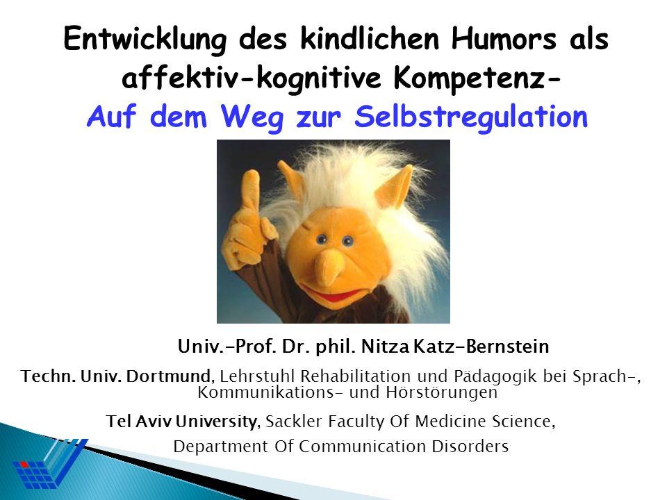 Univ.-Prof. Dr. phil. Nitza Katz-Bernstein Techn. Univ. Dortmund, Lehrstuhl Rehabilitation und Pädagogik bei Sprach-, Kommunikations- und Hörstörungen