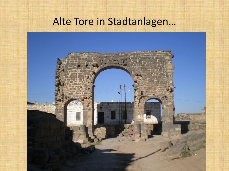 Alte Tore in Stadtanlagen…