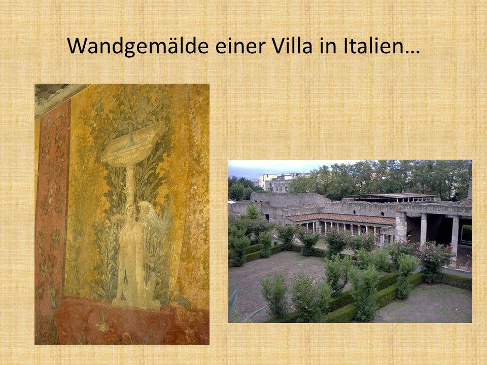 Wandgemälde einer Villa in Italien…