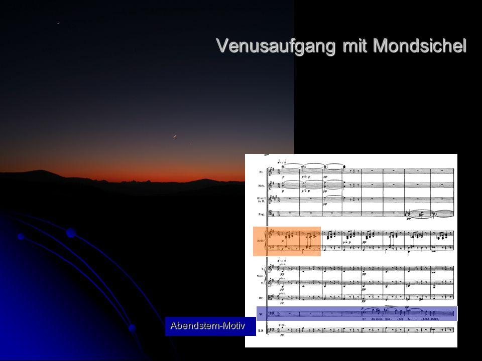 Abendstern-Motiv Venusaufgang mit Mondsichel