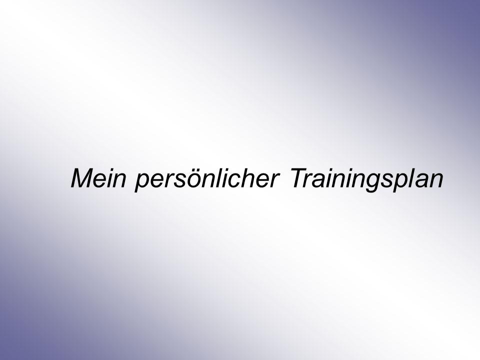 Mein persönlicher Trainingsplan