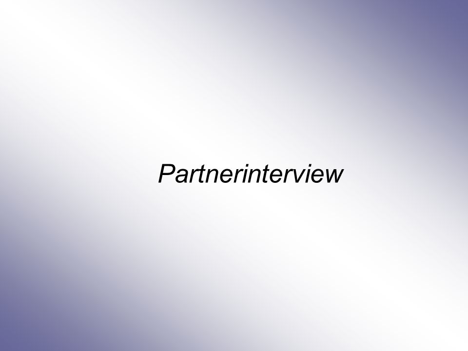 Partnerinterview
