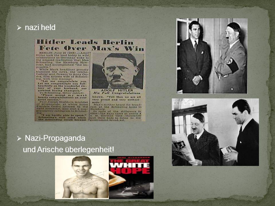 nazi held Nazi-Propaganda und Arische überlegenheit!
