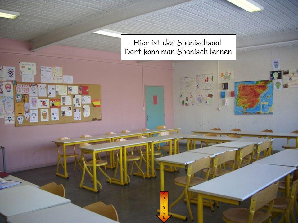 zurückzurück Hier ist der Spanischsaal Dort kann man Spanisch lernen