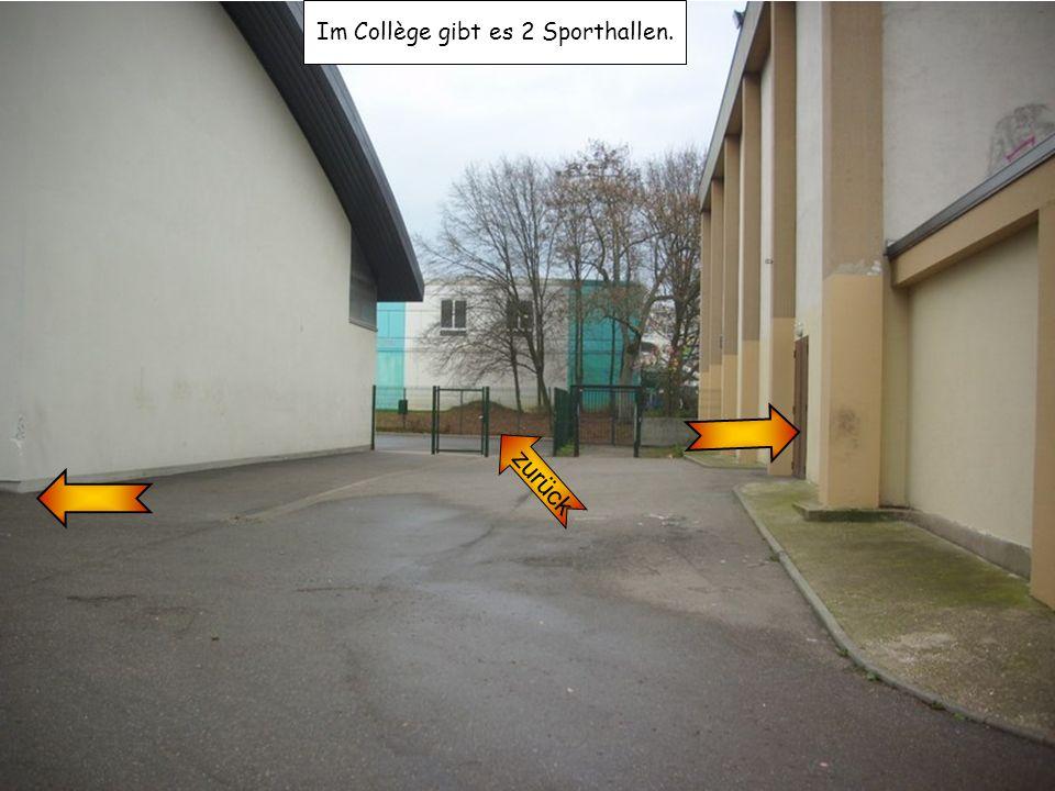 Im Collège gibt es 2 Sporthallen. zurück