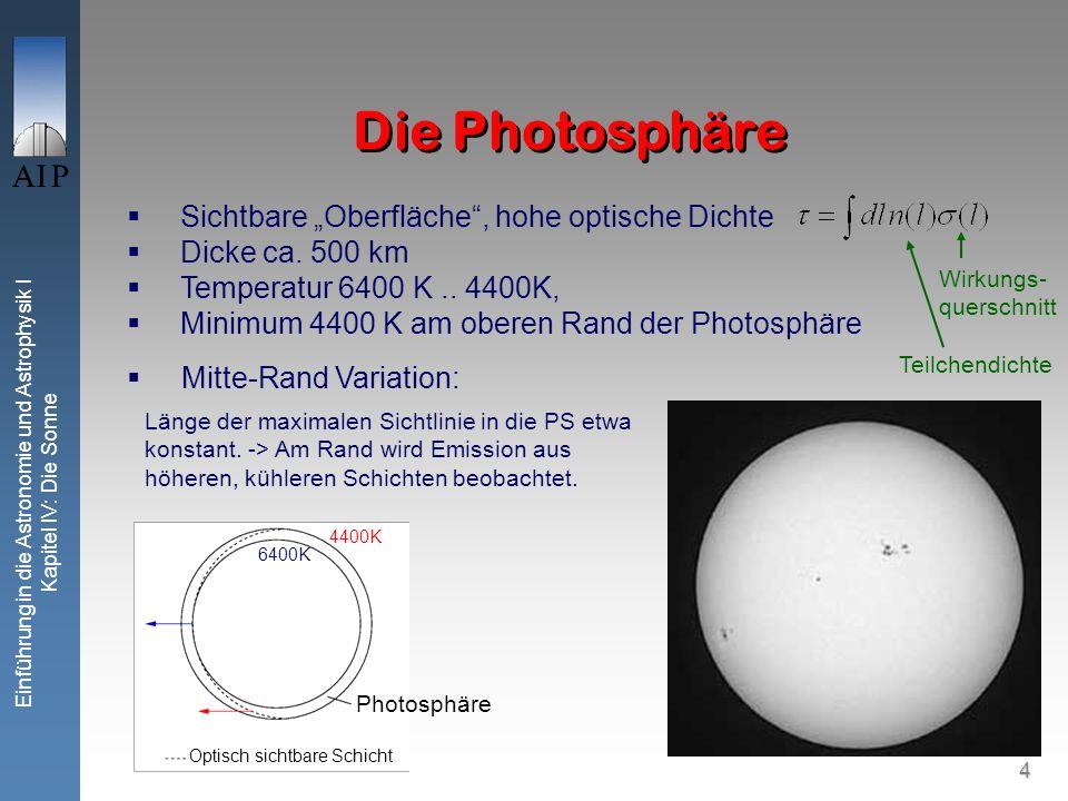35 Einführung in die Astronomie und Astrophysik I Kapitel IV: Die Sonne Neutrinos von der Sonne Lösung erst durch neue Experimente: GALLEX (Italien): ähnlich Chlor-Experiment, jedoch mit 30t Gallium.