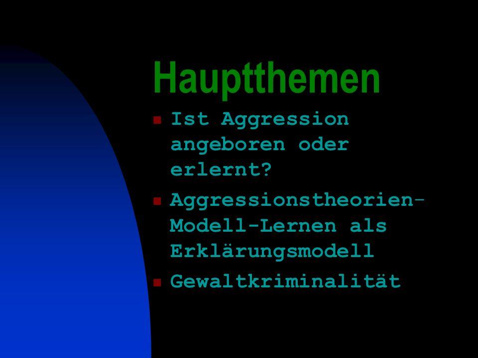 Hauptthemen Ist Aggression angeboren oder erlernt.