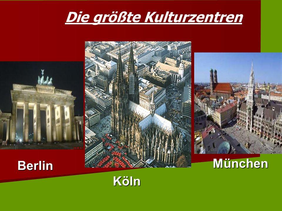 Die größte Kulturzentren Berlin Köln München