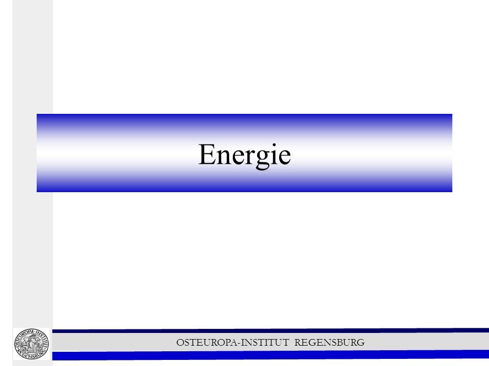 OSTEUROPA-INSTITUT REGENSBURG Energie