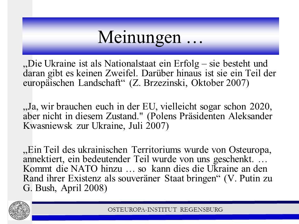 OSTEUROPA-INSTITUT REGENSBURG Diversifizierung der Energieversorgung Es sind Pipelines um die Ukraine herum geplant.