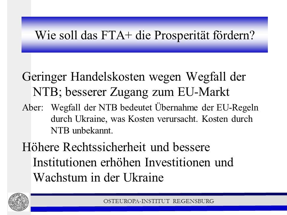 OSTEUROPA-INSTITUT REGENSBURG Wie soll das FTA+ die Prosperität fördern.