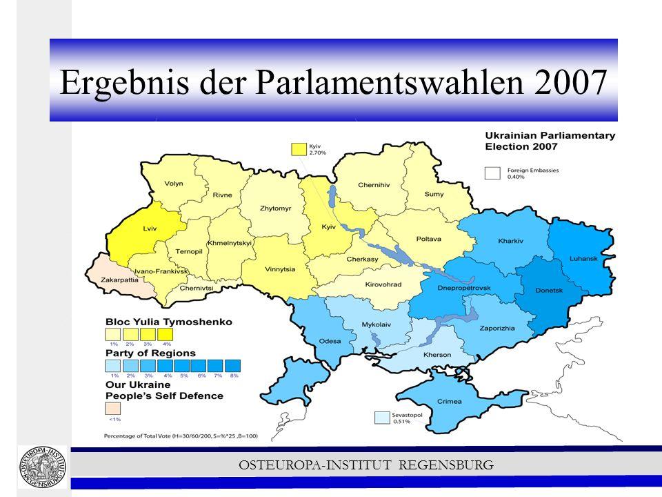OSTEUROPA-INSTITUT REGENSBURG Ergebnis der Parlamentswahlen 2007