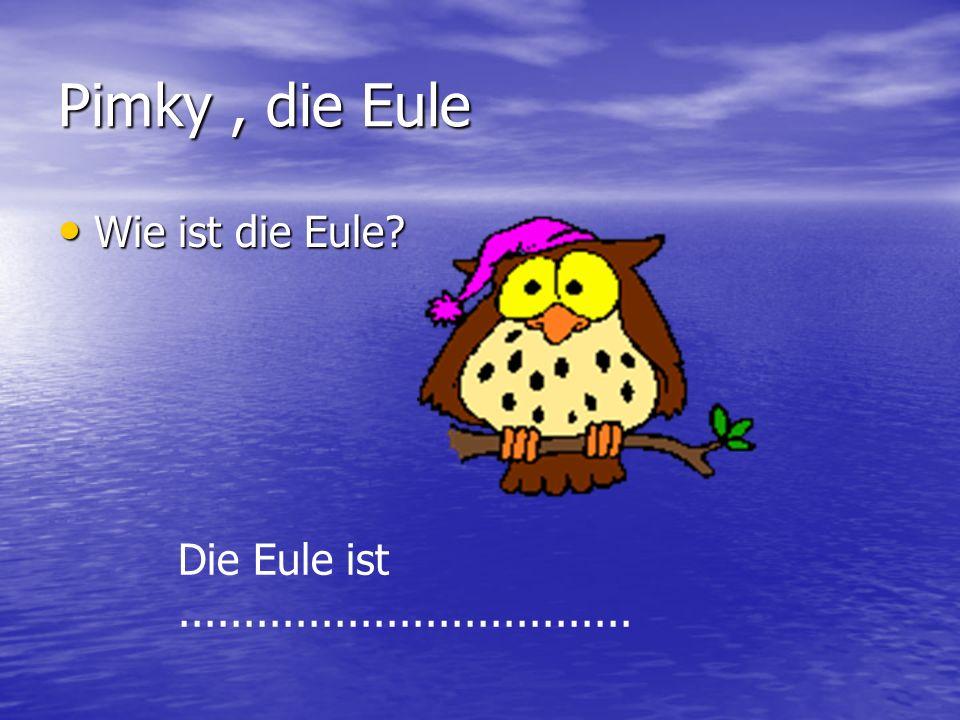 Pimky, die Eule Wie ist die Eule? Die Eule ist...................................