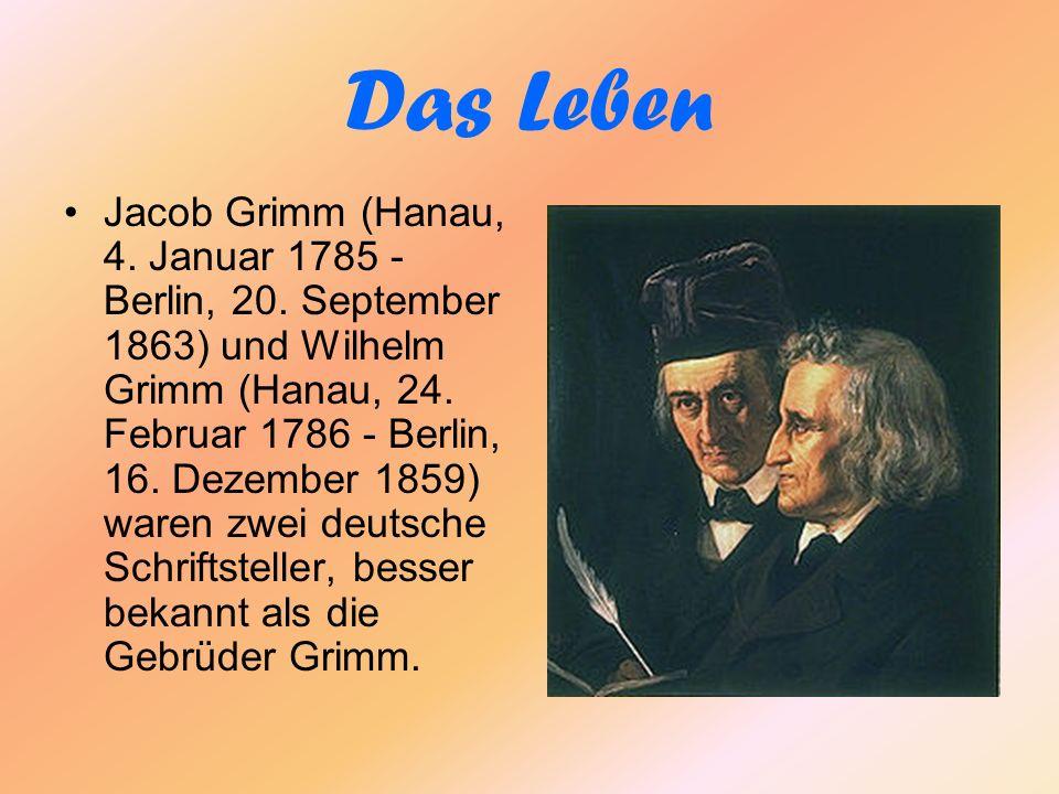 Das Leben Jacob Grimm (Hanau, 4.Januar 1785 - Berlin, 20.