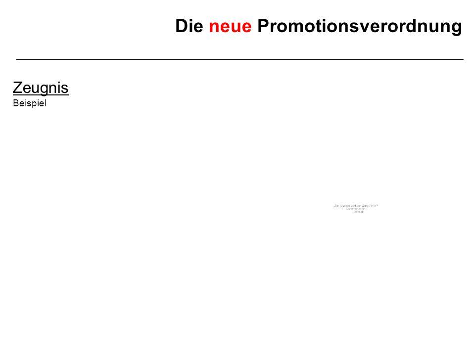 Die neue Promotionsverordnung 2.Zählende Fächer BisherNeu 2./3.